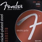 Encordoamento Para Guitarra Fender 250l 0.09 Aço Niquelado