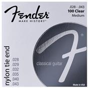 Encordoamento Para Violão Nylon 0.28 Prata 100clear Fender