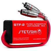 Filtro Anti Ruído Supressor Rca 20hz À 50khz Stf-2 Stetsom