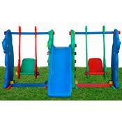 Playground Escorregador Cachorrinho 2 Balanços Alpha Brinquedos