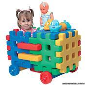 Monte Play Carro Baú Colorido Polietileno Alpha Brinquedos