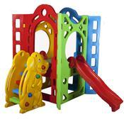 Playground Fortaleza Com Escorregador Alpha Brinquedos