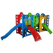 Playground Fortaleza Com Passarela Alpha Brinquedos